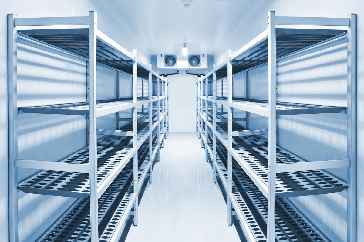 Kühlhaus ausgestattet mit Kältetechnik